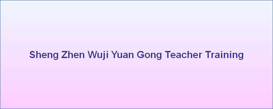 Sheng Zhen Wuji Yuan Gong Teacher Training
